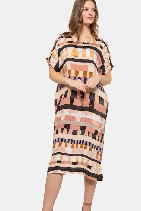 Kleid Cupro Grafik Design Oversized Selection Weitere Kleider Kleider Ulla Popken Deutschland