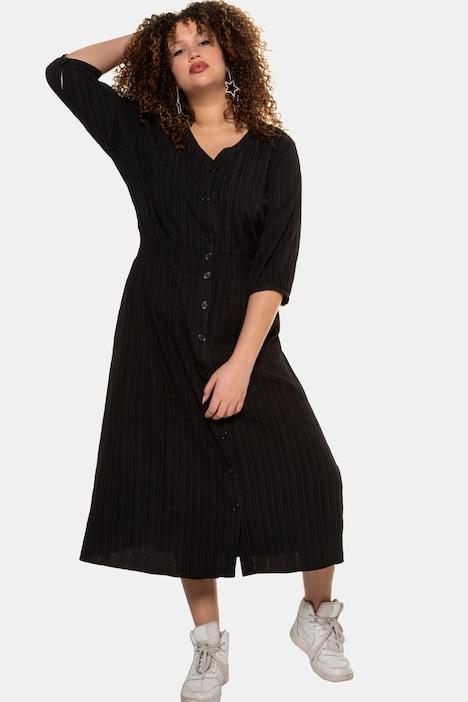 Kleid Knopfleiste Weite 3 4 Armel Weitere Kleider Kleider Ulla Popken Deutschland