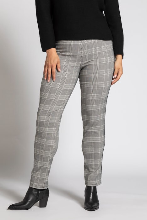 Plaid Bengaline Sarah Fit Stretch Pants