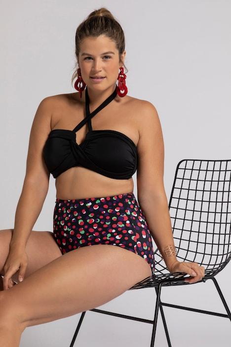 Grote Maten Bikinislip, Dames, rood, Maat: 46, Polyester/Synthetische vezels/Elastaan, Ulla Popken