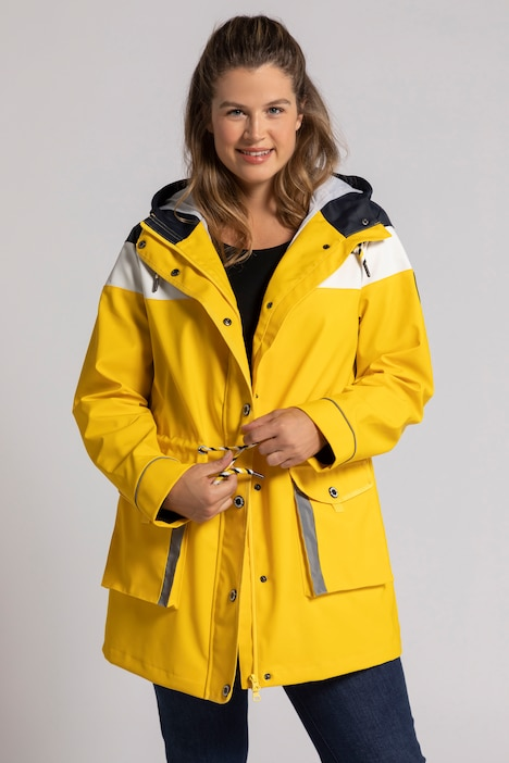 Friesennerz, Colorblocking, Regenjacke, 2-Wege-Zipper