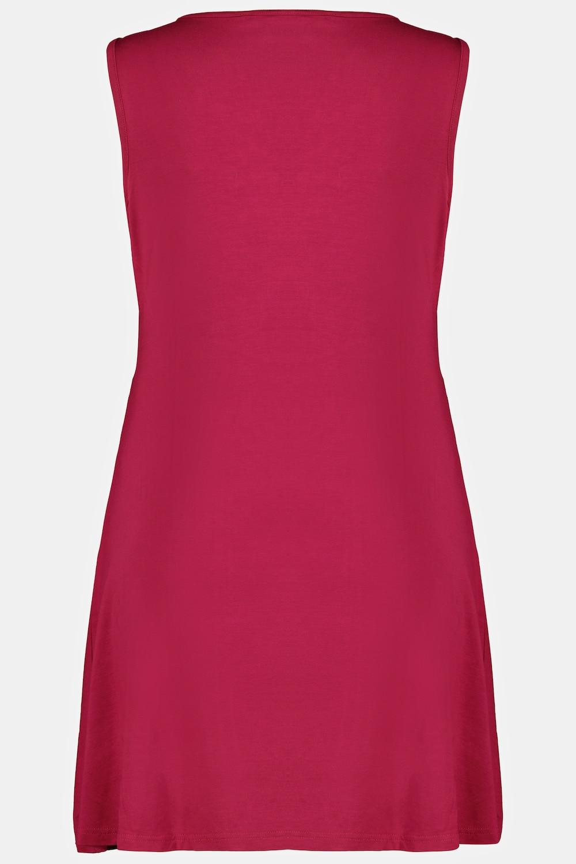 Duże rozmiary Długi top z dekoltem w szpic, damska, różowa, rozmiar: 42/44, wiskoza, Ulla Popken