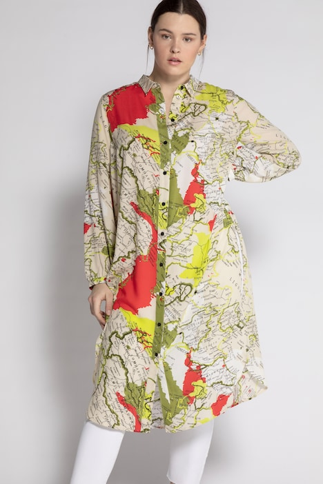 Image of Grosse Grössen Bluse, Damen, beige, Größe: 42/44, Viskose, Studio Untold