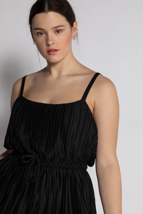 Kleid Plissee Empire Form Spaghetti Trager Armellos Weitere Kleider Kleider Ulla Popken Deutschland