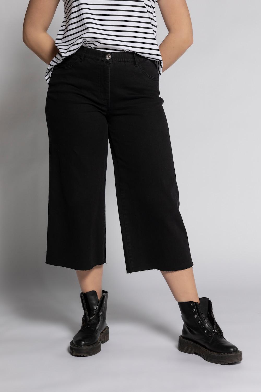 Culotte, wijd en kuitlang, in 5 pocket stijl. band met ceintuurlussen, knoop en zipper. studio untold is het ...