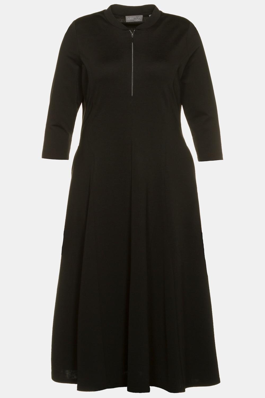 Duże rozmiary Sukienka z dżerseju, damska, czarny, rozmiar: 58, wiskoza/włókna syntetyczne, Ulla Popken